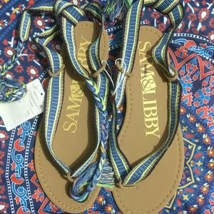 NWT Sam & Libby lace up sandals 7.5
